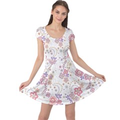 Flower Floral Sunflower Rose Purple Red Star Cap Sleeve Dress