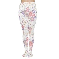 Flower Floral Sunflower Rose Purple Red Star Women s Tights