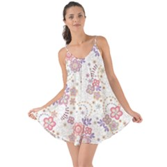Flower Floral Sunflower Rose Purple Red Star Love The Sun Cover Up