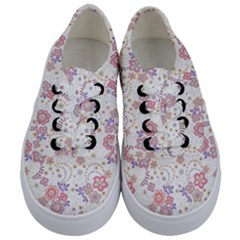 Flower Floral Sunflower Rose Purple Red Star Kids  Classic Low Top Sneakers