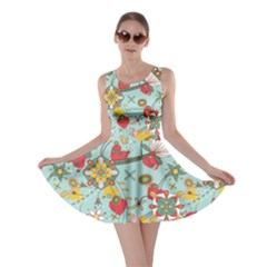 Flower Fruit Star Polka Rainbow Rose Skater Dress