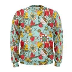 Flower Fruit Star Polka Rainbow Rose Men s Sweatshirt