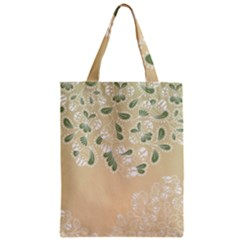 Flower Frame Green Sexy Zipper Classic Tote Bag
