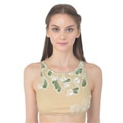 Flower Frame Green Sexy Tank Bikini Top