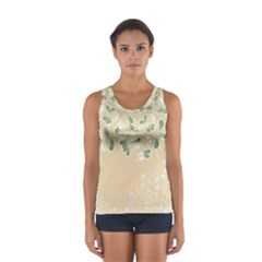 Flower Frame Green Sexy Sport Tank Top