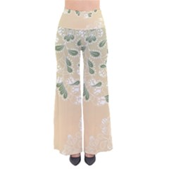 Flower Frame Green Sexy Pants