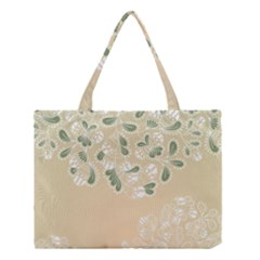 Flower Frame Green Sexy Medium Tote Bag