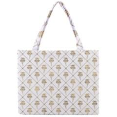 Flower Leaf Gold Mini Tote Bag