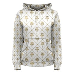Flower Leaf Gold Women s Pullover Hoodie