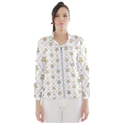 Flower Leaf Gold Wind Breaker (women)