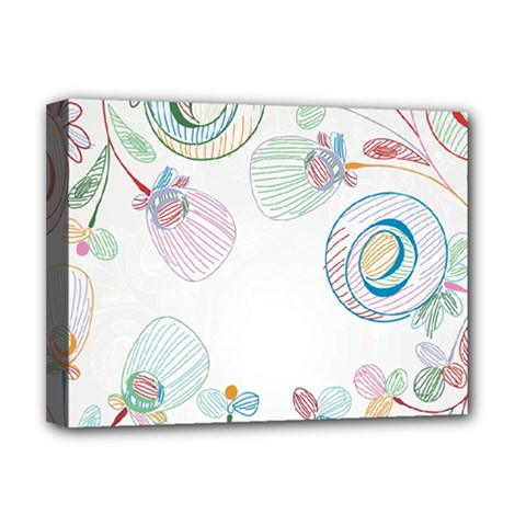 Flower Rainbow Circle Polka Leaf Sexy Deluxe Canvas 16  X 12