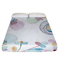 Flower Rainbow Circle Polka Leaf Sexy Fitted Sheet (queen Size)