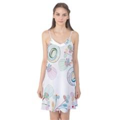 Flower Rainbow Circle Polka Leaf Sexy Camis Nightgown