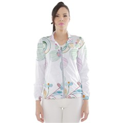 Flower Rainbow Circle Polka Leaf Sexy Wind Breaker (women)