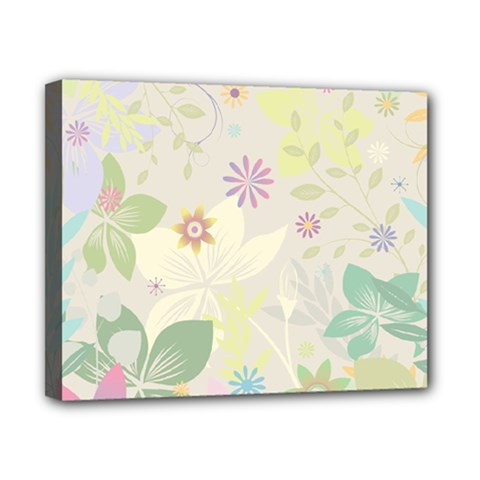 Flower Rainbow Star Floral Sexy Purple Green Yellow White Rose Canvas 10  X 8