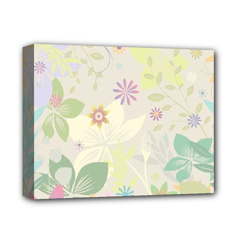 Flower Rainbow Star Floral Sexy Purple Green Yellow White Rose Deluxe Canvas 14  X 11
