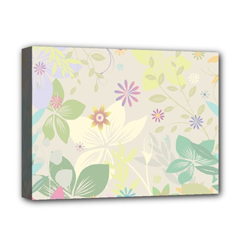 Flower Rainbow Star Floral Sexy Purple Green Yellow White Rose Deluxe Canvas 16  X 12