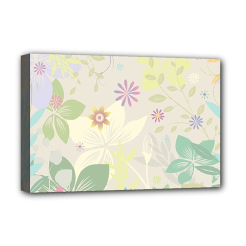 Flower Rainbow Star Floral Sexy Purple Green Yellow White Rose Deluxe Canvas 18  X 12
