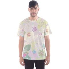 Flower Rainbow Star Floral Sexy Purple Green Yellow White Rose Men s Sports Mesh Tee