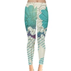 Flower Rose Purple Sunflower Lotus Leggings