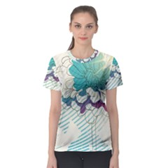 Flower Rose Purple Sunflower Lotus Women s Sport Mesh Tee