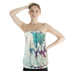 Flower Rose Purple Sunflower Lotus Strapless Top