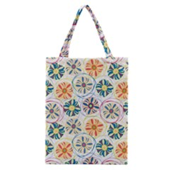 Flower Rainbow Fan Sunflower Circle Sexy Classic Tote Bag