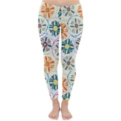 Flower Rainbow Fan Sunflower Circle Sexy Classic Winter Leggings