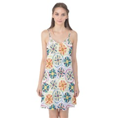 Flower Rainbow Fan Sunflower Circle Sexy Camis Nightgown