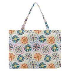 Flower Rainbow Fan Sunflower Circle Sexy Zipper Medium Tote Bag
