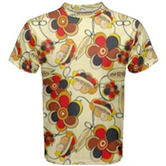 Flower Seed Rainbow Rose Men s Cotton Tee