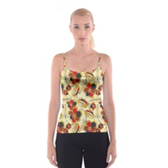 Flower Seed Rainbow Rose Spaghetti Strap Top