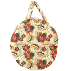 Flower Seed Rainbow Rose Giant Round Zipper Tote
