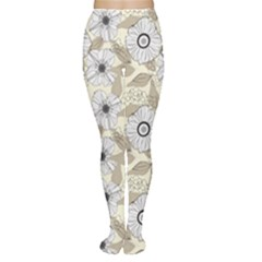 Flower Rose Sunflower Gray Star Women s Tights