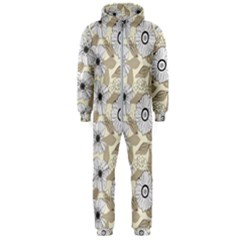 Flower Rose Sunflower Gray Star Hooded Jumpsuit (men)
