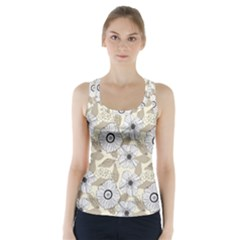 Flower Rose Sunflower Gray Star Racer Back Sports Top
