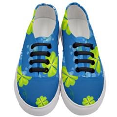 Flower Shamrock Green Blue Sexy Women s Classic Low Top Sneakers
