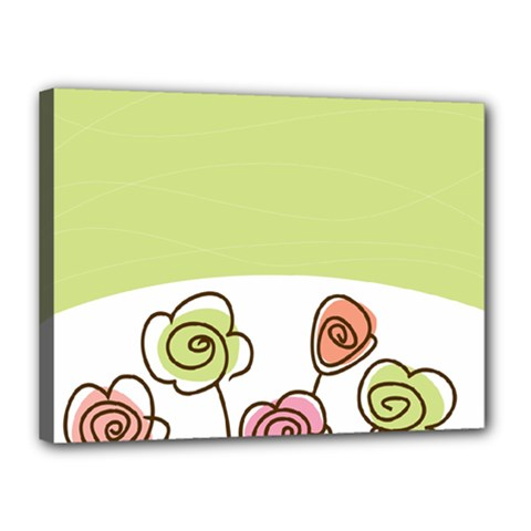 Flower Simple Green Rose Sunflower Sexy Canvas 16  X 12