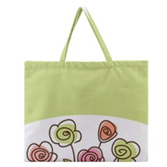 Flower Simple Green Rose Sunflower Sexy Zipper Large Tote Bag