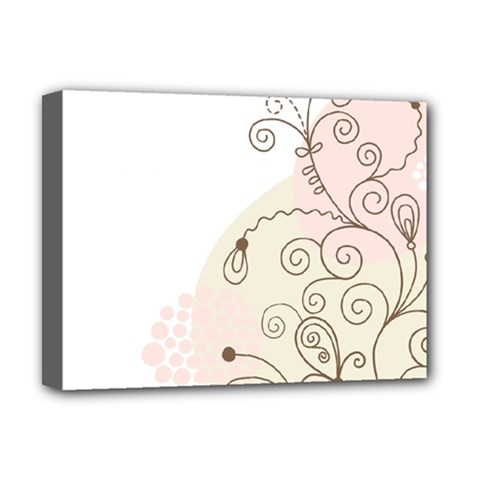 Flower Simple Pink Deluxe Canvas 16  X 12