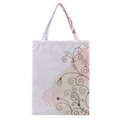 Flower Simple Pink Classic Tote Bag