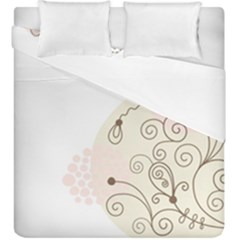 Flower Simple Pink Duvet Cover Double Side (king Size)