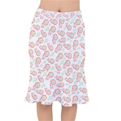 Flower Rose Red Green Sunflower Star Mermaid Skirt