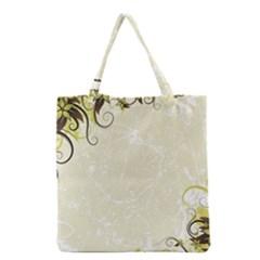 Flower Star Floral Green Camuflage Leaf Frame Grocery Tote Bag