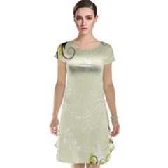 Flower Star Floral Green Camuflage Leaf Frame Cap Sleeve Nightdress