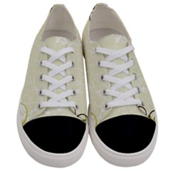 Flower Star Floral Green Camuflage Leaf Frame Women s Low Top Canvas Sneakers