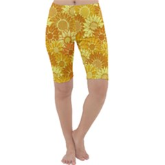Flower Sunflower Floral Beauty Sexy Cropped Leggings