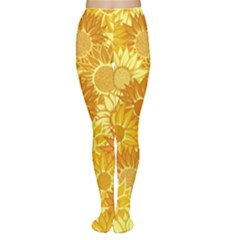 Flower Sunflower Floral Beauty Sexy Women s Tights