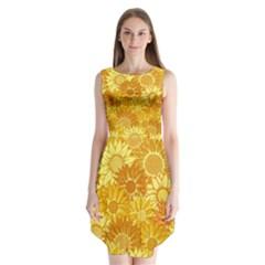 Flower Sunflower Floral Beauty Sexy Sleeveless Chiffon Dress