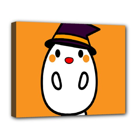 Halloween Ghost Orange Deluxe Canvas 20  X 16